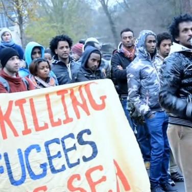 450 Flüchtlinge und Unterstützer fordern: Abschiebungsstopp